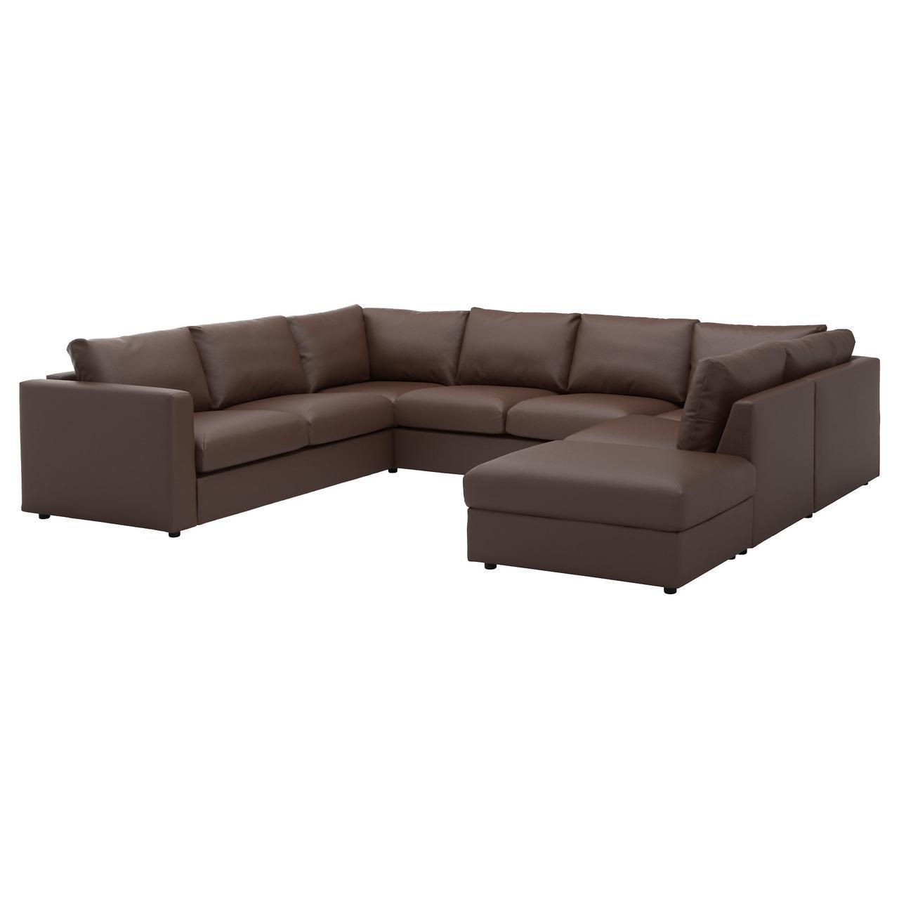 ✅ IKEA VIMLE (992.115.79) U-образный, 6-местный диван с открытым концом, Farsta темно-синий