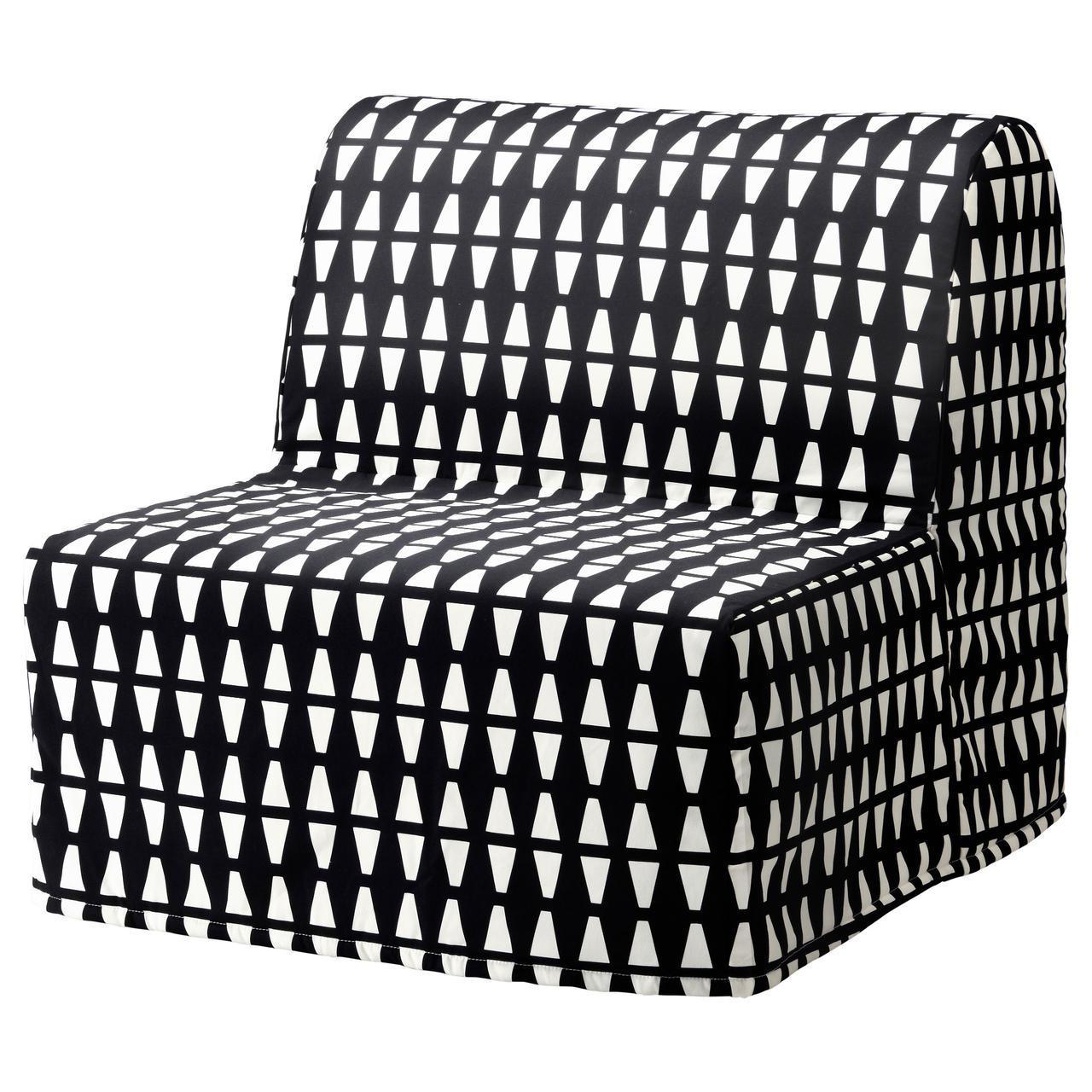 ✅ IKEA LYCKSELE LOVAS (991.341.52) Складной стул, Ebbarp черный/белый
