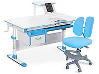 Комплект Evo-Evo kids 40 BL Blue (стіл+ящик+полку+крісло)