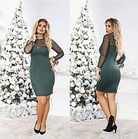 """Платье большие размеры """"Замш """" Dress Code, фото 1"""