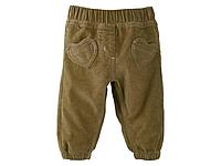 Штаны для новорожденных вельветовые от lupilu германия. ткань вельвет 100% хлопок.
