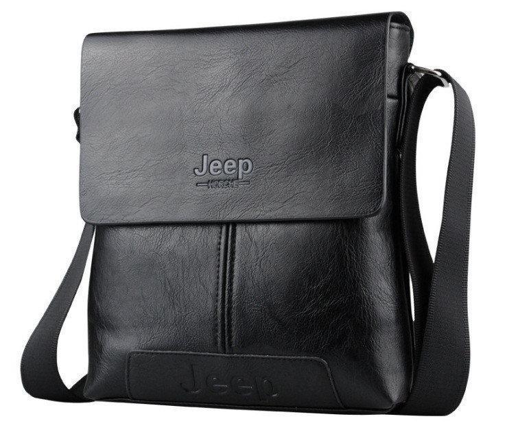 Стильная мужская сумка через плечо Jeep Buluo Кожа PU