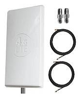 Антенна 4G LTE MIMO 2×24 dbi + кабель + SMA-F