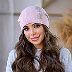 Женская зимняя теплая шапка пряжа, фото 3