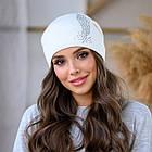 Женская зимняя теплая шапка пряжа, фото 4