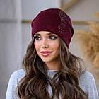 Женская зимняя теплая шапка пряжа, фото 2