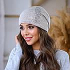 Женская зимняя теплая шапка пряжа, фото 5