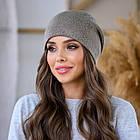 Женская зимняя теплая шапка пряжа, фото 7