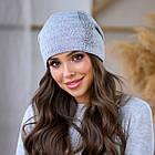 Женская зимняя теплая шапка пряжа, фото 8