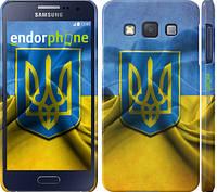 """Чехол на Samsung Galaxy A3 A300H Флаг и герб Украины 1 """"375c-72"""""""