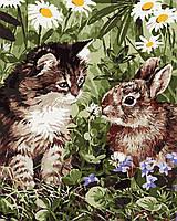 """Картина по номерам """"Кот и кролик"""" 40*50см, фото 1"""
