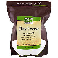 "Декстроза NOW Foods, Real Food ""Dextrose"" фруктовый сахар (907 г)"