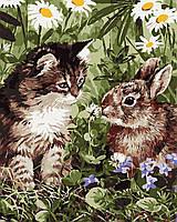 """Картина по номерам """"Кот и кролик"""" 40*50см"""