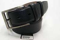 Ремень мужской кожаный классический (черный) ALON, фото 1