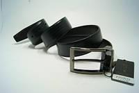 Ремень мужской кожаный двухсторонний (черно-коричневый) ALON, фото 1