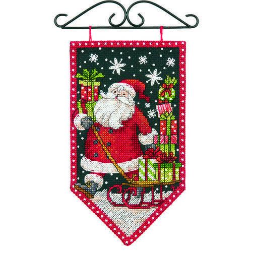 Набор для вышивания крестом Зима//Winter Mini Banner DIMENSIONS 72-74136
