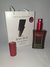 Мини парфюм Carolina Herrera Bad Boy в подарочной упаковке 50 мл (реплика)