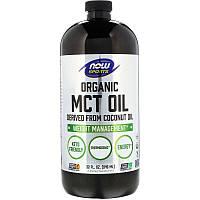 """Органическое масло МСТ, NOW Foods, Sports """"Organic MCT Oil"""" для контроля и снижения веса (946 мл)"""