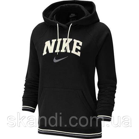 Толстовка женская Nike W Hoodie FLC Vrsty черная BV3973 010
