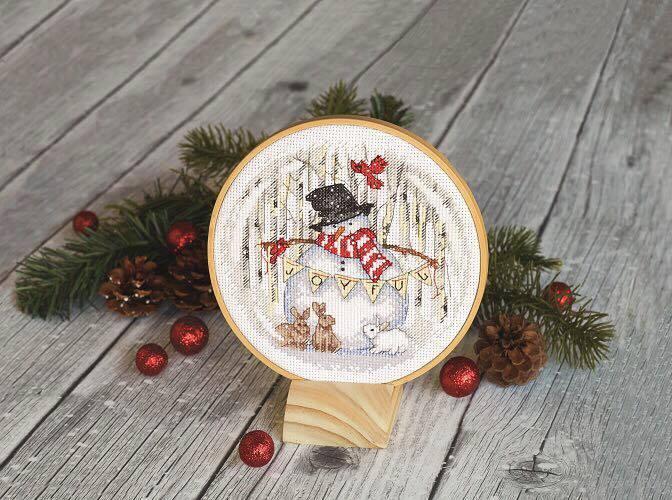 Набор для вышивания крестом Joyful Snowglobe//Радостный снежный шар DIMENSIONS 70-08979