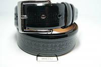 Ремень мужской кожаный лаковый (черный) ALON, фото 1