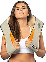 Шиацу массажер для шеи и спины 4 кнопки воротник 55W с Функцией Подогрева