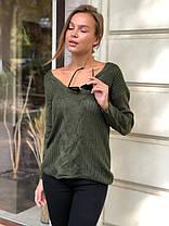 В'язаний светр під шию в кольорах 547743, фото 2