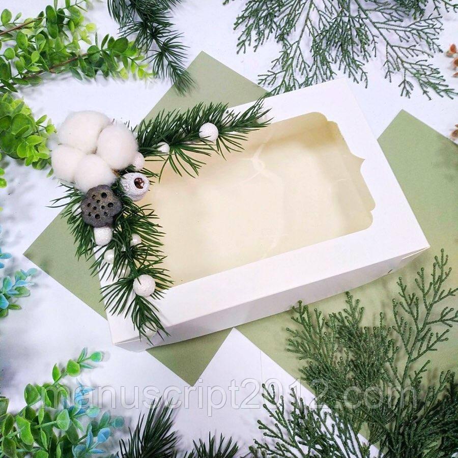 Коробка подарункова з декором 250х170х80 мм.