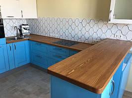 Кухонная деревянная Столешница из массива Лиственницы
