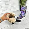 """Дутики женские зимние фиолетовые """"Colose"""" плащевка, фото 6"""