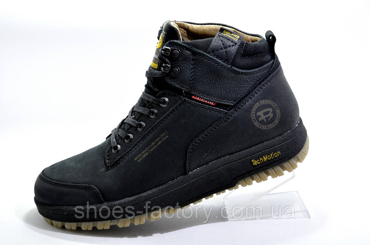 Мужские ботинки Belvas, кожа с натуральным мехом
