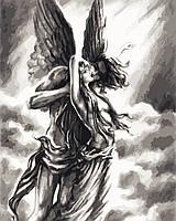"""Картина по номерам """"Любовь ангела""""  40*50см"""