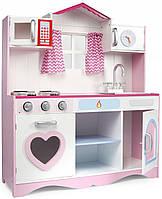 Детская деревянная кухня Pink Play 102/246106 + аксессуары (9097)