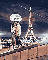 """Картина по номерам """"Любовь в Париже""""  40*50см"""