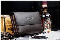 Мужской клатч POLO коричневой (реплика), фото 1