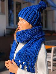 Шапка + шарф в расцветках 547741