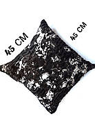 Подушка декоративная плюшевая меховая 45*45
