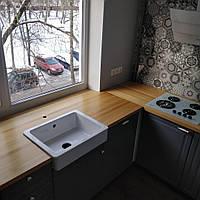 Столешница из массива Лиственницы деревянная для кухни