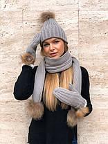 Шапка + шарф + персатки теплые  в расцветках 547739, фото 2