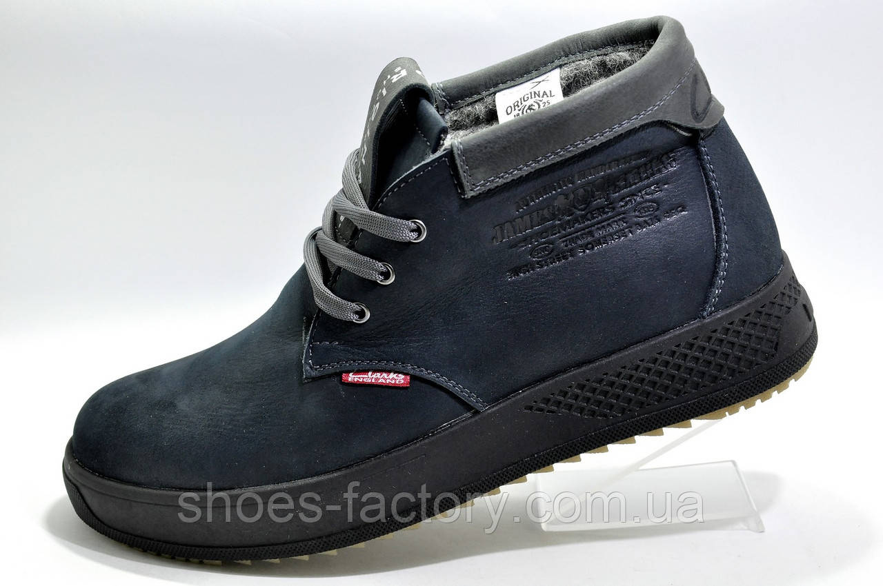 Зимние ботинки Clarks, кожа на меху