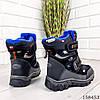 Детские ботинки зимние на липучках черного цвета из эко кожи, фото 4