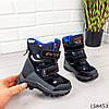 Детские ботинки зимние на липучках черного цвета из эко кожи, фото 6