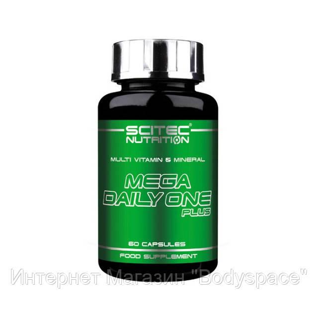 Scitec Nutrition, Витамины Mega Dayli One Plus, 60 капсул