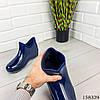 Женские ботинки демисезонные синего цвета из литой резины, фото 2