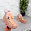 Женские ботинки зимние пудрового цвета из эко кожи, фото 5
