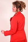 Юбка из фактурного коттона, цвет терракот, дизайнерская модель, 50,52,54,56 , ю 005-5., фото 6