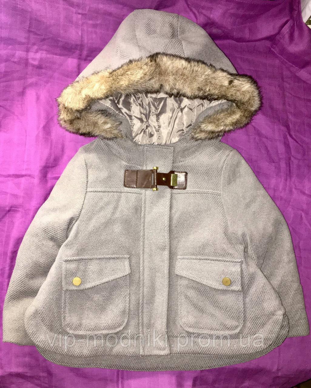 Стильное теплое пальто на девочку на 2 года рост 83/89см от Kiabi.