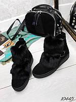 Ботинки зима с мехом подошва волна., фото 1