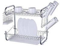 Сушка для посуды 2-х ярусная 8051-9-56