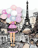 """Картина по номерам """"Краски Парижа"""" 40*50см"""